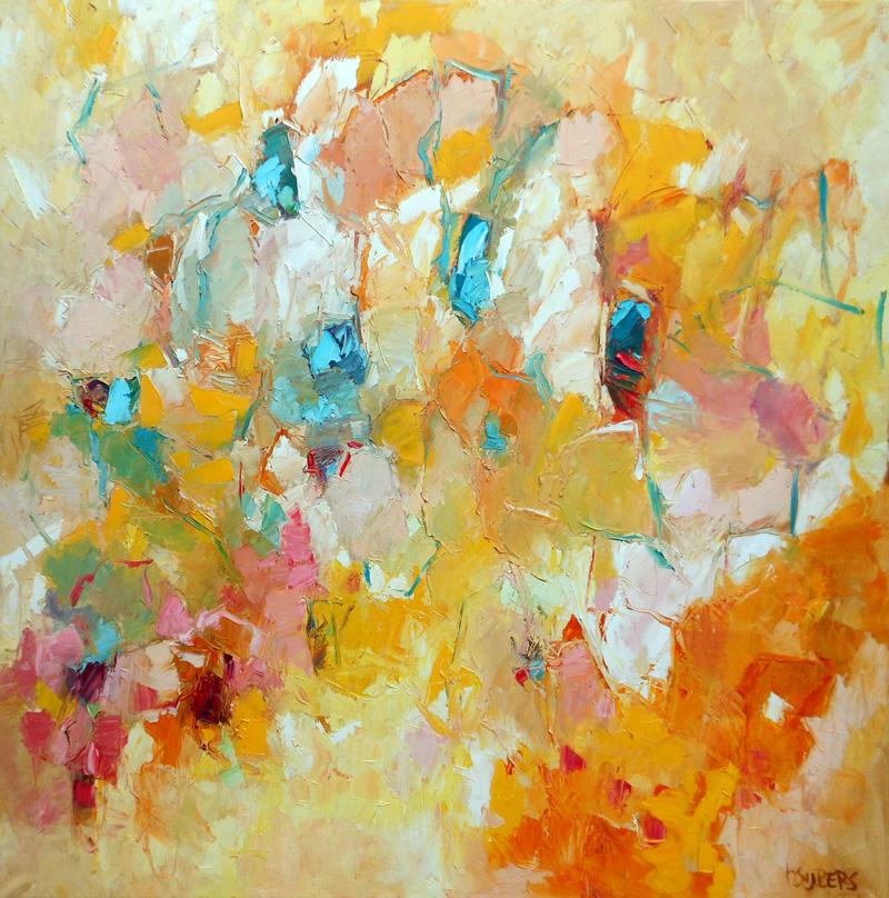 harrie sijbers compositie met tulpen