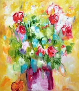 Stilleven met bloemen in pot 160x140.kl